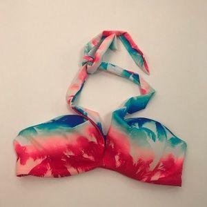 Victoria's Secret pink tie dye bikini top medium
